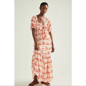 FARM Rio Anthropologie Bow Front Odessa Maxi Dress